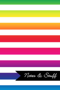 Stripes Bright Colors Notebook Cover