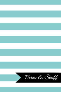 Stripes Caribbean Blue Notebook Cover
