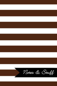 Stripes Cocoa Brown Notebook Cover