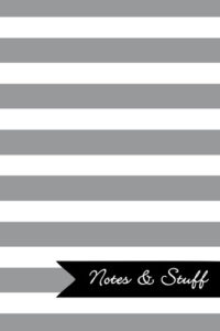 Stripes French Grey Notebook Cover