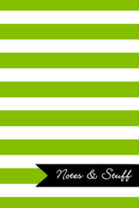 Stripes Lime Green Notebook Cover