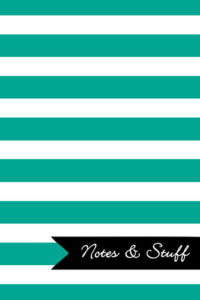 Stripes Persian Green Notebook Cover