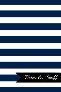 Stripes Sapphire Blue Notebook Cover