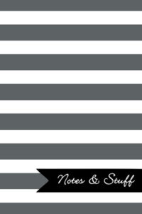 Stripes Slate Grey Notebook Cover