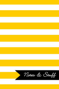 Stripes Sunshine Yellow Notebook Cover