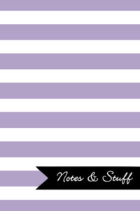 Stripes Thistle Purple Notebook Cover