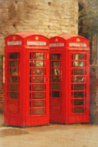 Notebook Covers - 2 Telephone Booths