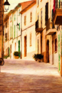 Streets & Storefront Notebook Covers - Street in Alcudia