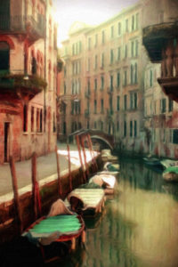 City Canels & Waterways Notebook Covers - Alley in Venice