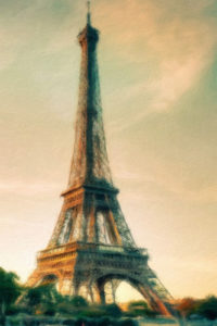 Building & Landmark Notebook Covers - Eiffel Tower in the Late Afternoon
