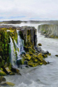 Seascape Notebook Covers - Iceland Waterfall Cascade