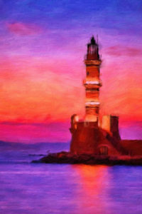 Lighthouse Notebook Covers - Lighthouse in Greece