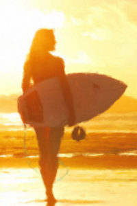 Morning Surf Ride - Train Notebook Cover