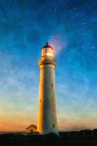 Lighthouse Notebook Covers - Nightfall at the Lighthouse