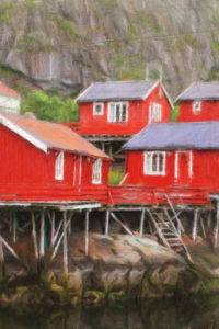Building & Landmark Notebook Covers - Red Fishing Huts
