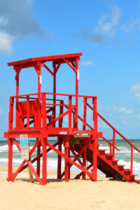 Building & Landmark Notebook Covers - Red Lifeguard Station