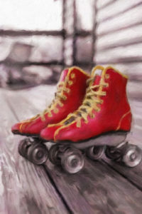 Sport Notebook Covers - Red Roller Skates