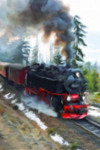 Steam Engine With Red Trim - Train Notebook Cover