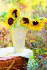 Flowers in a Container Notebook Covers - Sunflower Picnic