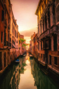 City Canels & Waterways Notebook Covers - Sunset in Venice