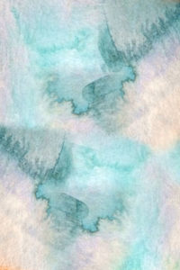 Abstract Notebook Turquoise Blue Watercolors