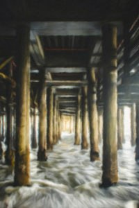 Waves Under the Pier - Train Notebook Cover