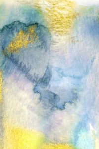 Abstract Notebook Yellow Blue Watercolors