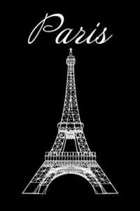 Quotes & Word Notebook Covers - Paris with Eiffel Tower