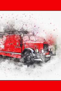Notebook Covers - Red Fire Engine
