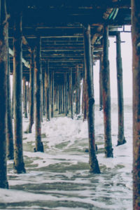 Seascape Notebook Covers - Under The Pier