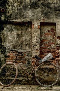 Bicycle Notebook Covers - Bicycle Against a Brick Wall