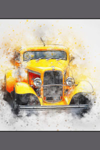 Notebook Covers - Old Yellow Car